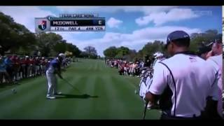 Tiger Woods Farts and Laughs During McDowells Tee Shot (FUNNY)