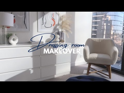 DRESSING ROOM MAKEOVER! Organising + IKEA! Living in Australia!