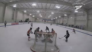 20181214 U14 Carolina Lady Eagles vs Jr  Flyers girls ice hockey highlights