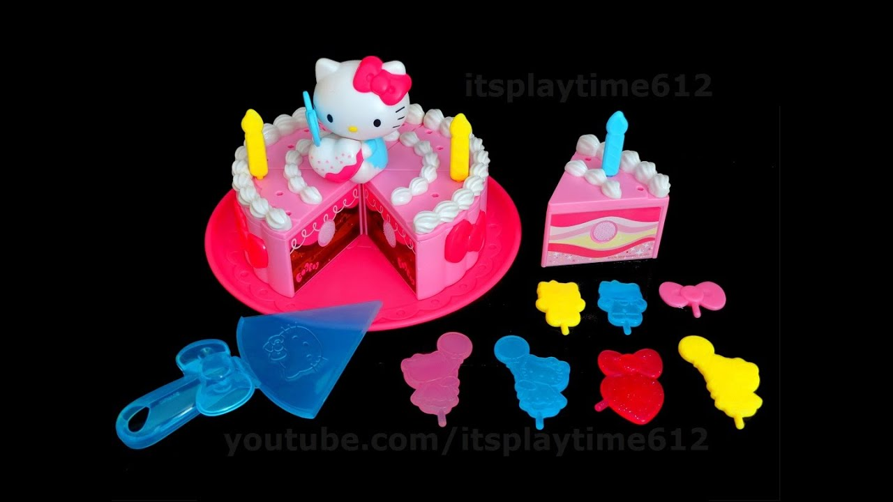 HELLO KITTY BIRTHDAY PARTY CAKE Surprise Toys Review