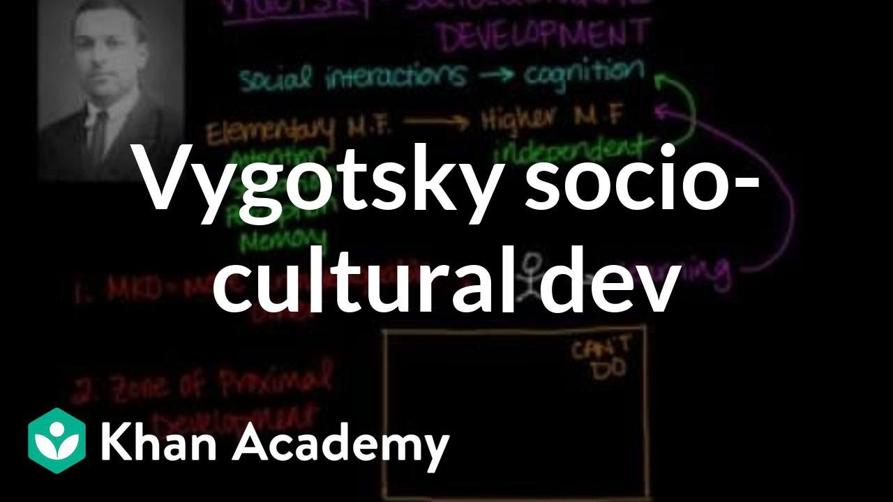 Vygotsky sociocultural development (video) | Khan Academy