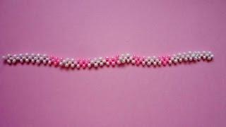 Плетение бисером браслеты для начинающих