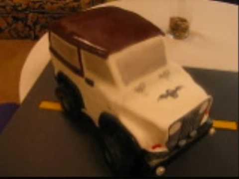 Cake Decorating 3D Jeep Cake Custom Cake YouTube