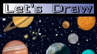 Let's Draw: Solar System