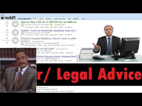 Let's Explore the Legal Advice Subreddit (r/legaladvice)