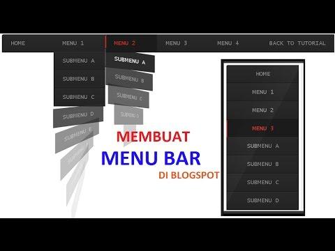 Cara Membuat Menu Bar Di Blog Tanpa Merubah Kode HTML