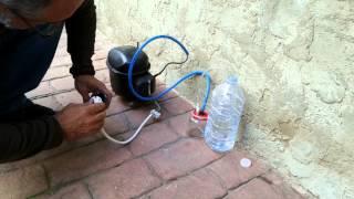 Bomba de vacio casera con compresor de nevera