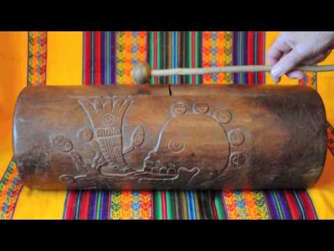 An Aztec drum at Mexicolore!