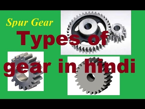 Types of gear in hindi / Mechanical engineering in hindi