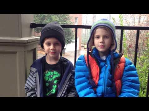 Owen and Ethan... Looney Tunes Christmas Carol