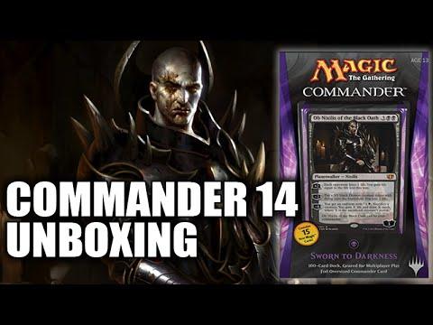 """Commander 2014 Black Deck """"Sworn to Darkness"""" Unboxing"""
