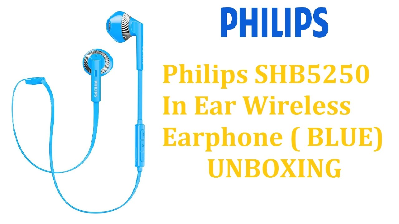 112119a6cc3 Best wireless Earphone under Rs 2000 : Philips SHB5250 Bluetooth Earphone  (BLUE) UNBOXING Hindi