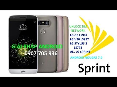 unlock sim network LG G5 Sprint LS992 - unlocked LG LS992ZVF