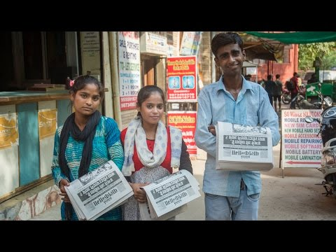 Indian Slum Kids Deliver Their Own Tabloid Newspaper