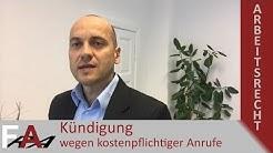 Kündigung wegen kostenpflichtiger Anrufe bei der Arbeit | Alexander Bredereck