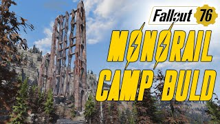 Fallout 76 Monorail Camp   Most stressful Build I have made