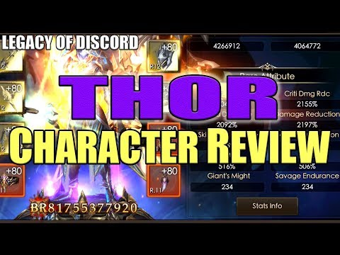Legacy of Discord: THOR Best well build Character in HKT?