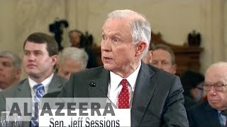 Protesters interrupt Jeff Sessions confirmation hearing