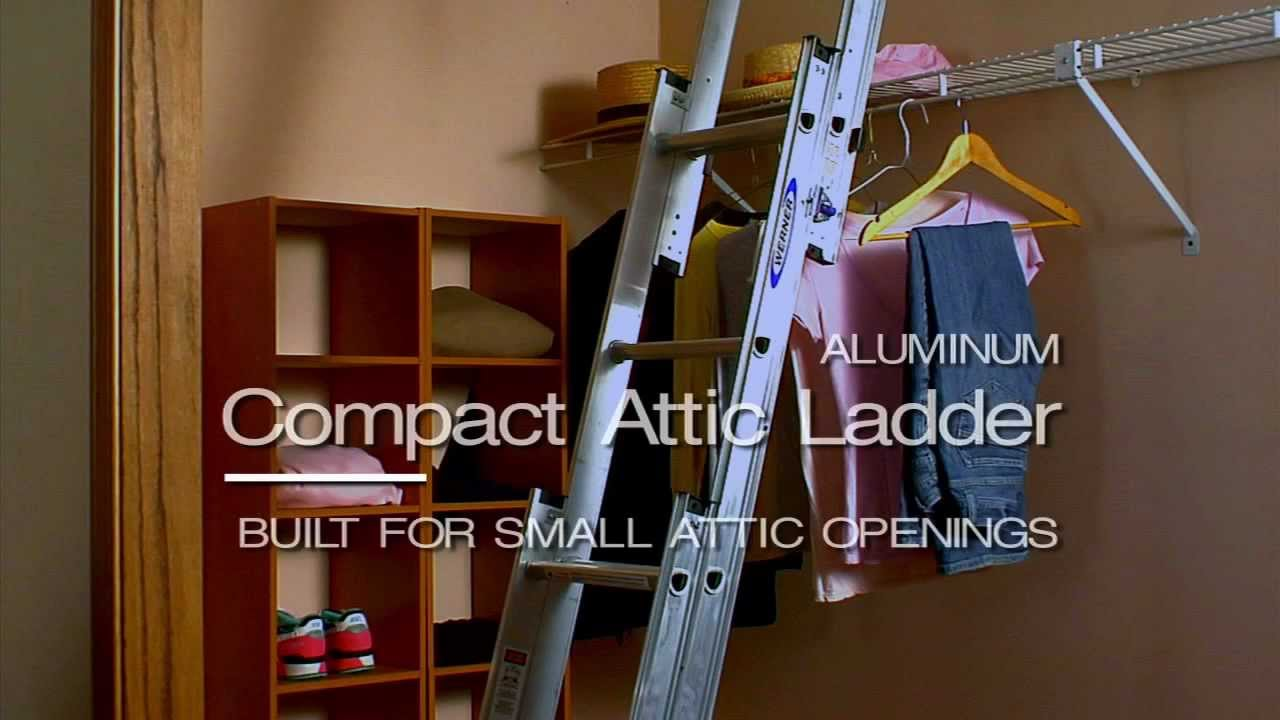 Werner Compact Attic Ladder   Convenient Handrail