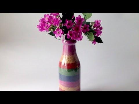 אגרטל עם חול צבעוני