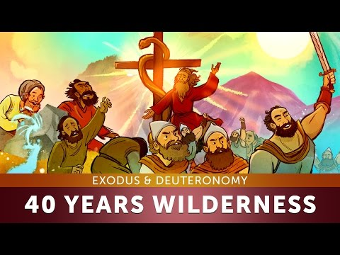40 Years In The Wilderness - Exodus \u0026 Deuteronomy: Sunday School Lesson And Bible Teaching Story VBS