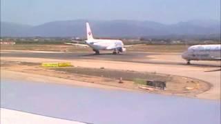 Jet2.com Boeing 757 Boarding, taxi and takeoff Palma de Mallorca Part 1