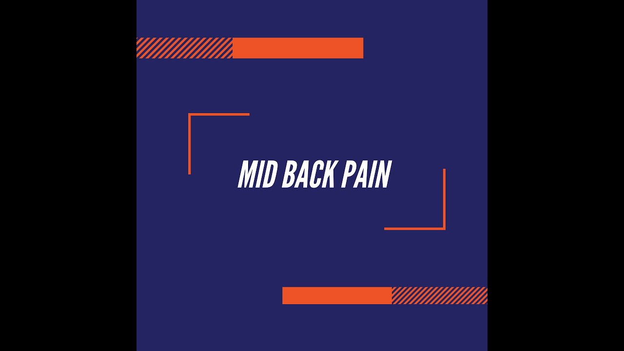 Quarantine Exercises- Mid back pain