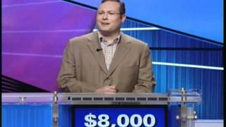 Repeat youtube video Funny Jeopardy Cotestant Keeps Messing Up Answer