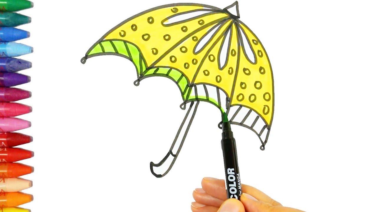şemsiye çizim Nasıl Yapılır çocuk Ve Bebek Için çizim Ve Boyama