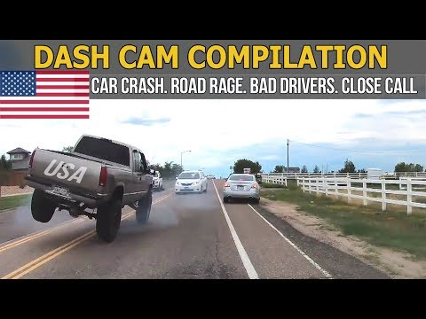 Car Crashes in America (USA & Canada) bad drivers, Road Rage 2017 # 54