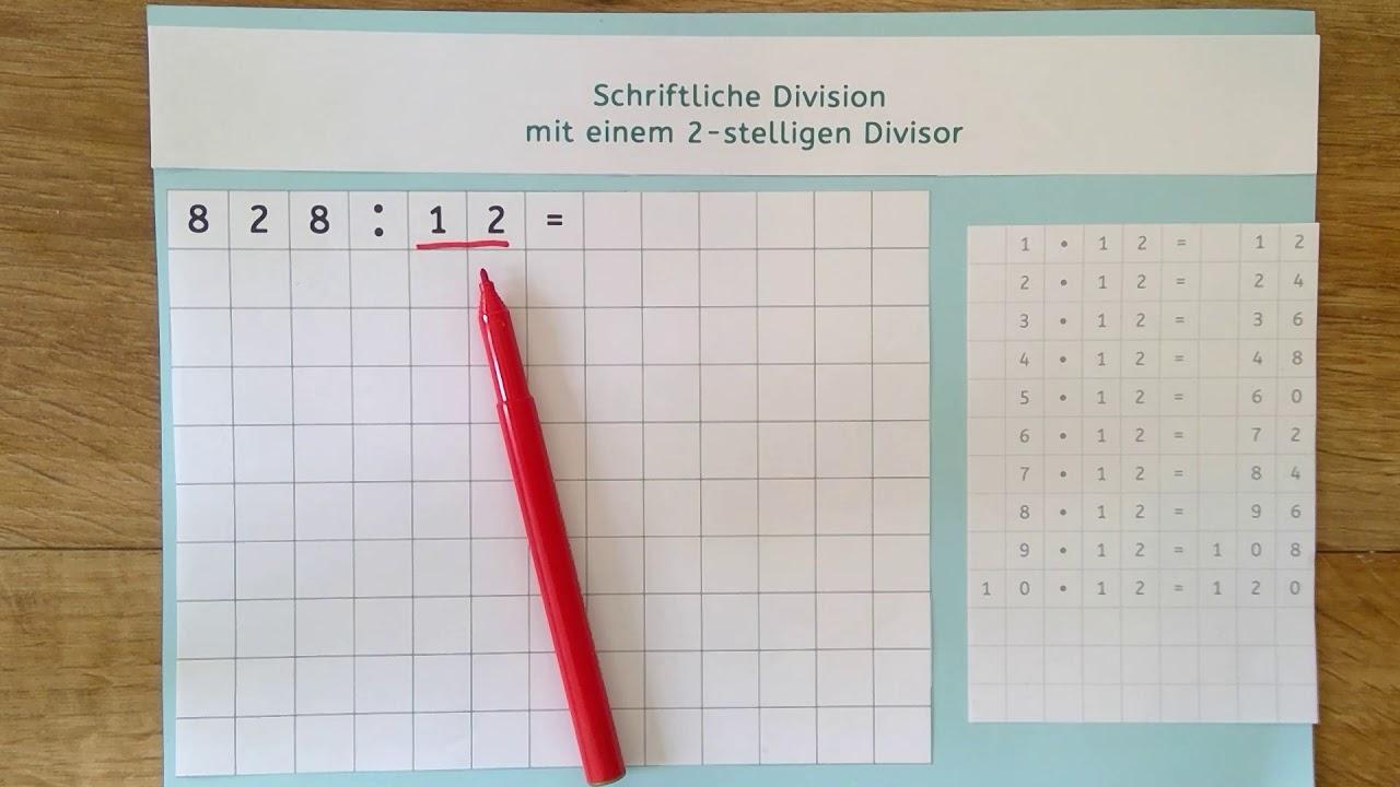 schriftliche division grundschule
