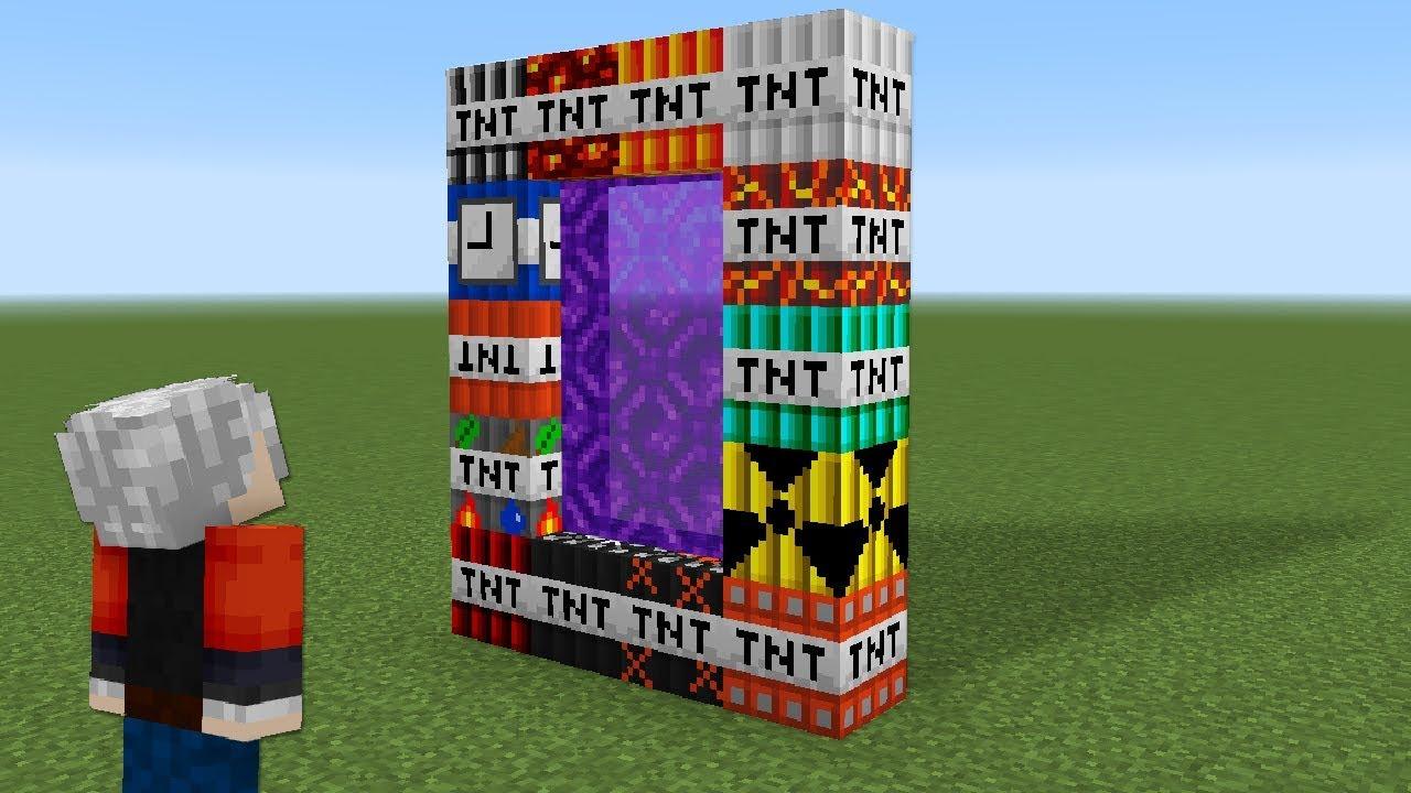 SÜPER TNT PORTALINI PATLATMAK - Minecraft