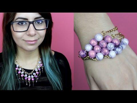 Collar, aretes y pulsera / Crea tus accesorios - Hablobajito