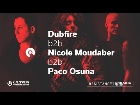 Dubfire b2b Nicole Moudaber b2b Paco Osuna @ Ultra 2018: Resistance Megastructure - Day 2 (BE-AT.TV)