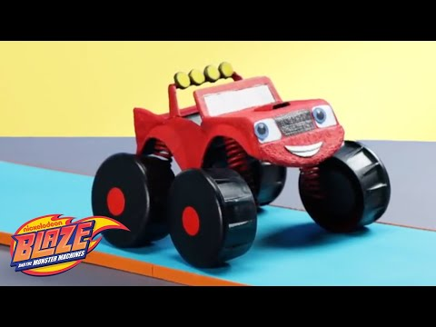 How to Build Your Own Blaze from Blaze and the Monster Machines 🚗 | DIY Crafts | Nick Jr.
