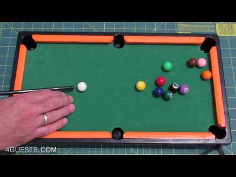 Mini Pool Table ~ Miniature Billiards