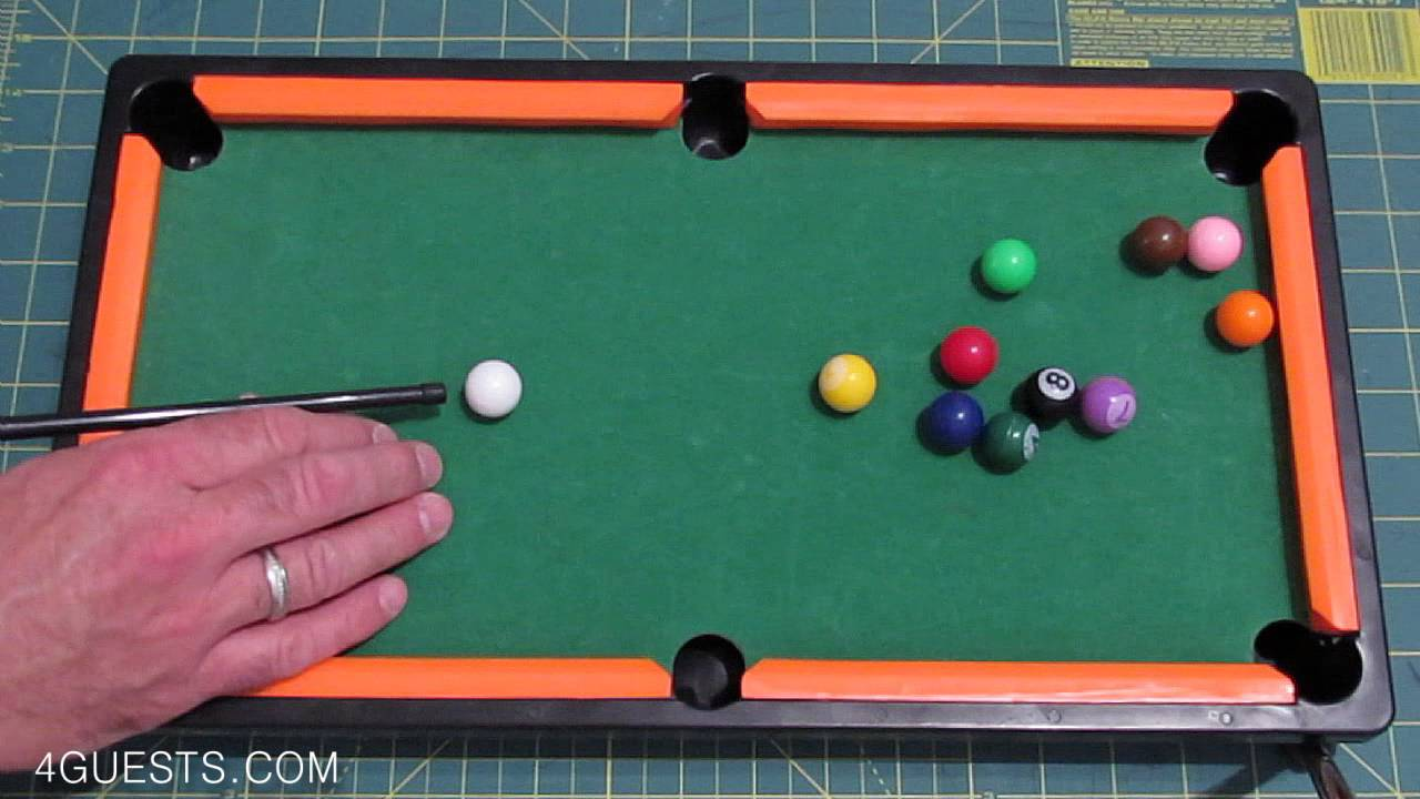 Beautiful Mini Pool Table ~ Miniature Billiards   YouTube