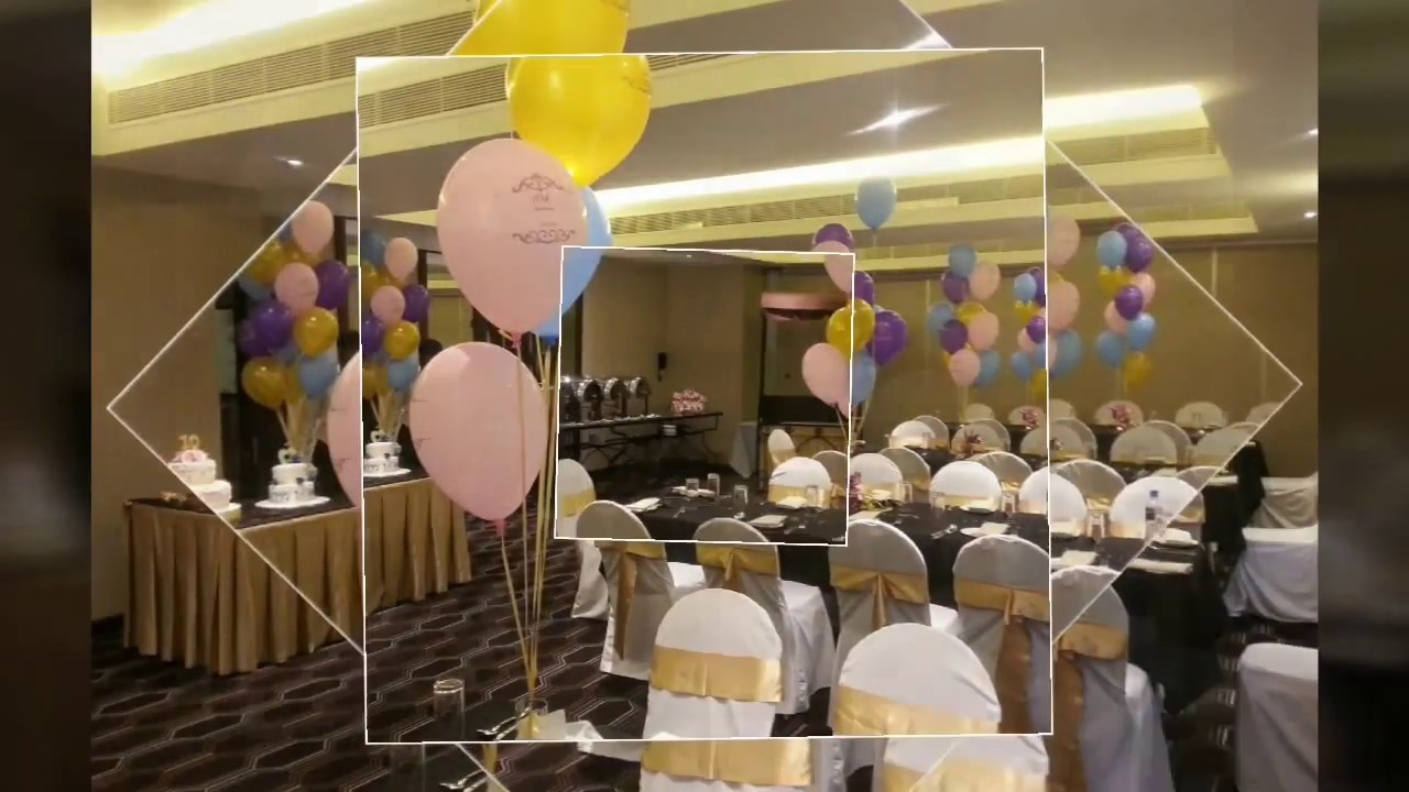 Simple balloon decoration ideas for birthday party at home YouTube