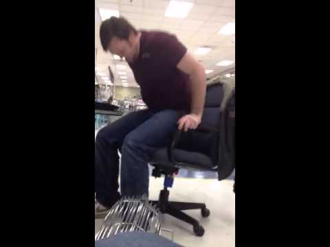 Air horn taped to office chair & Air horn taped to office chair - YouTube