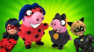 Свинка Пеппа - Леді БАГ Мультик з Ліплення іграшок Леді Баг і Супер-Кіт з Плей До