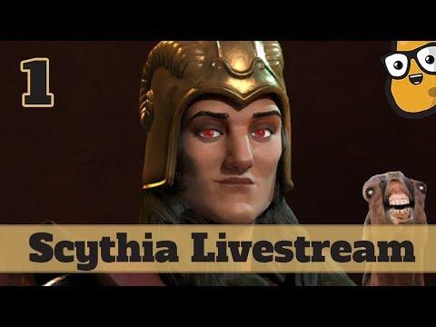 Civ 6 Livestream - Deity Scythia Part 1 - Domination Victory