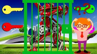 Become  a hero rescue Transfomers robot with unlocker colors matching   and nursery song for kids