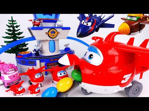Thumbnail: Go Super Wings Giant Jett~! Let's Deliver Surprise Eggs With Giant Jett - ToyMart TV
