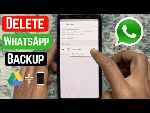 Delete Whatsapp Chat Backup From Google Drive And Phone | New WhatsApp Tricks You Should Know 2019