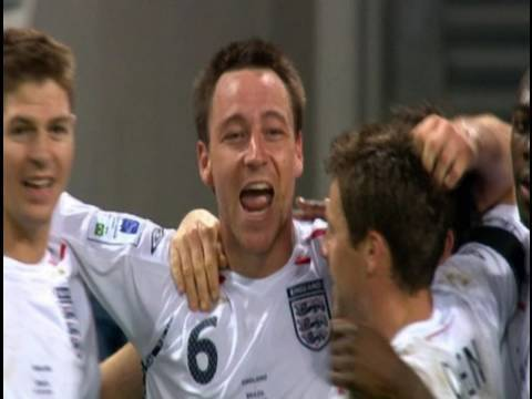 JT scores first goal at new Wembley | England vs Brazil 2007