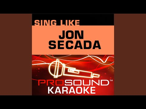 Solo Tu Imagen (Karaoke Instrumental Track) (In the Style of Jon Secada)