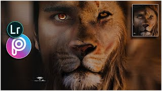 Half Man, Half Lion Face Manipulation| Picsart Photo Editing|step by step|picsart tutorial screenshot 1