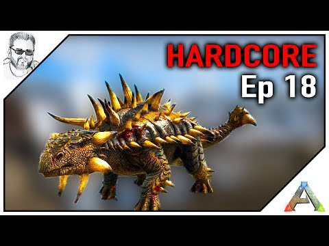 ARK HARDCORE - Domar ANKYLO e um QUETZAL RÁPIDO Ep 18 - Série Ark Hardcore PT