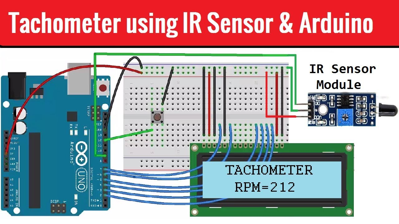 Tachometer (RPM Measurement) using IR Sensor & Arduino