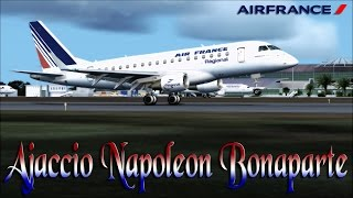 FSX [HD] - Air France ERJ 175 | Approach to Ajaccio Napoleon Bonaparte | Corsica